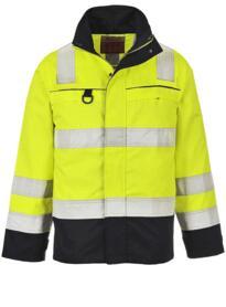 Hi-Vis Multi-Norm Jacket - Yellow / Navy Blue