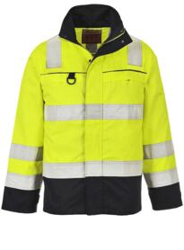 Hi-Vis Multi-Norm Jacket - Yellow / Navy Blue