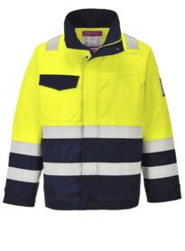 Hi-Vis Modaflame Jacket - Yellow / Navy Blue