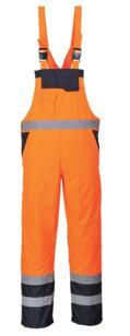 Portwest Contrast Bib and Brace - Orange / Navy Blue