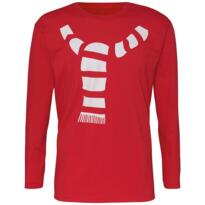 Scarf design long sleeve tee for Christmas - Red