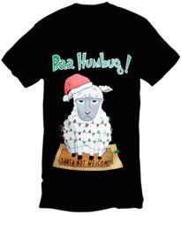 Bah humbug Christmas T-shirt - Black