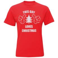 This guy loves Christmas tee shirt - Red - Red