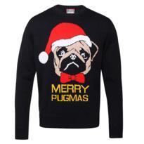 Merry pugmas Christmas jumper - Black