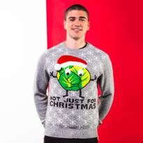 Sprouts Not Just For Christmas jumper - Grey Marl