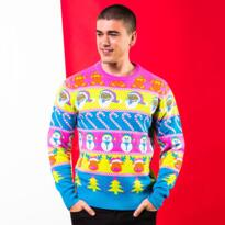 Multi character Christmas jumper - Multi coloured
