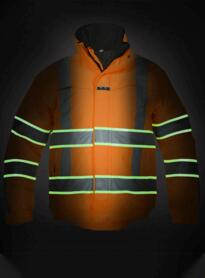 India HiVis Glow in the Dark Waterproof Jacket - Orange