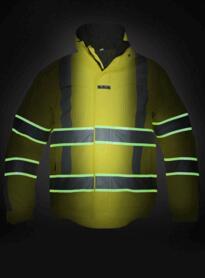 India HiVis Glow in the Dark Waterproof Jacket - Yellow