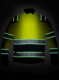 Idro Glow in the Dark Jacket - Yellow / Navy Blue
