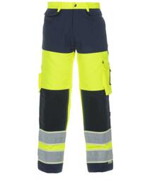 Idstein HiVis Glow in the Dark Trousers - Yellow / Navy Blue