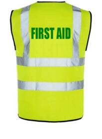 HiVis FIRST AID Vest - Yellow
