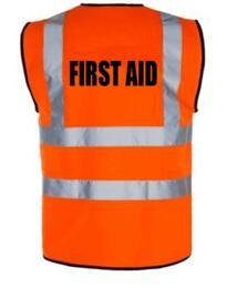 HiVis FIRST AID Vest - Orange