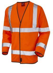 Mullacott Flame Retardant HiVis Sleeved Vest - Orange