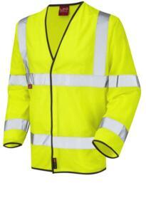 Mullacott Flame Retardant HiVis Sleeved Vest - Yellow