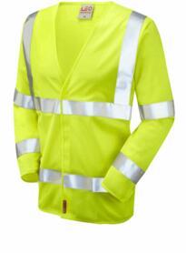 Parkham Flame Retardant HiVis Sleeved Vest - Yellow