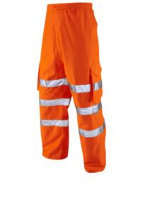 Leo Breathable Cargo Over Trousers Rail Spec - Orange