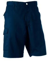Russell Polycotton Twill Shorts - French Navy Blue