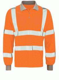 Hivis Long Sleeve GO/RT Polo Shirt - Orange