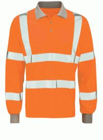 Hivis Long Sleeve GO/RT Polo Shirt - Orange