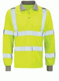 Hivis Long Sleeved Polo Shirt - Yellow