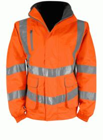 Cutlass Hivis Breathable GO/RT Bomber Jacket - Orange