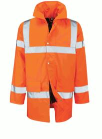 Hivis Parka Jacket - Orange