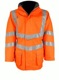 Hivis Breathable GO/RT Parka Jacket - Orange