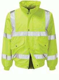 HiVis Economy Bomber Jacket - Yellow