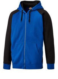 Dickies Two Tone Zipped Hoodie - Royal Blue / Black
