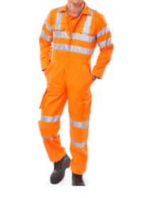 GO/RT HiVis Polycotton Boilersuit - Orange