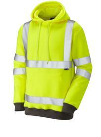 Goodleigh Hivis Hooded Sweatshirt - Yellow