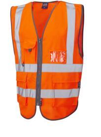 Barnstaple Hivis Pull Apart Waistcoat - Orange