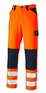 Dickies Everyday HiVis Trousers - Orange / Navy