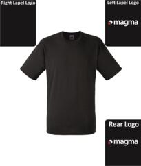 Magma Fruit of the Loom T-Shirt - Black
