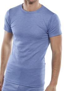 Click Thermal Vest Short Sleeved - Blue
