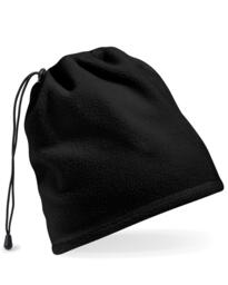 Beechfield Fleece Snood / Hat Combo - Black