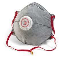 B-Brand Charcoal Dust Masks - P2 Valved - Box 10