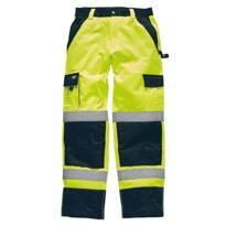Dickies Industry HiVis Polycotton Cargo Trousers - Yellow