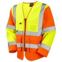 Leo S12 HiVis Long Sleeved Executive Vest - Yellow / Orange