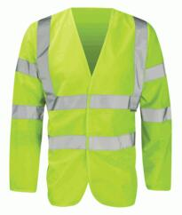 HiVis Long Sleeved Vests - Yellow