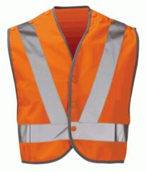 Hivis Mini Pull Apart Vest Rail Spec - Orange