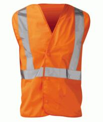 Hivis Pull Apart Vest Rail Spec - Orange