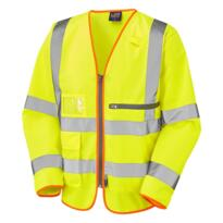 Leo HiVis Long Sleeved Executive Tablet Vest - Yellow