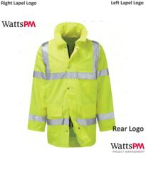 Watts Hi-Vis Parka Jacket [Watts PM Logo] - Yellow