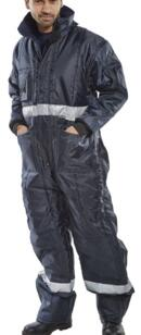 HiVis Coldstore Coverall - Navy Blue
