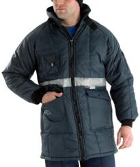 HiVis Coldstore Jacket - Navy Blue