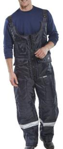 HiVis Coldstore Trousers - Navy Blue