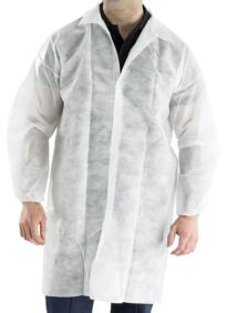 Disposable Visitors Coat - White