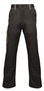 Regatta TRJ378 Contrast Cargo Trousers - Black / Grey