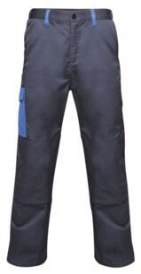 Regatta TRJ378 Contrast Cargo Trousers - Navy / Royal